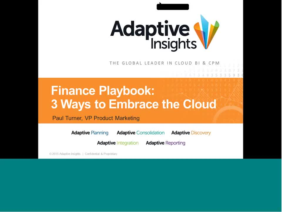 Screenshot for CFO Playbook: 3 Ways to Embrace the Cloud