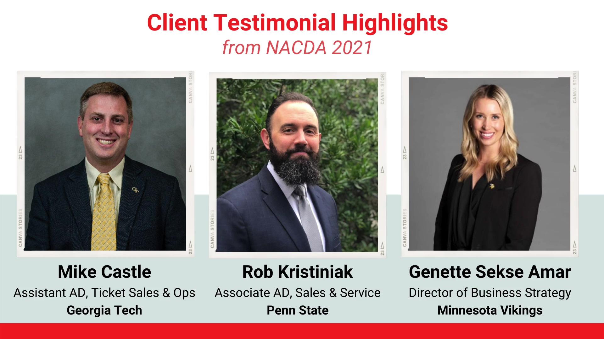 NACDA Client Testimonial Highlights