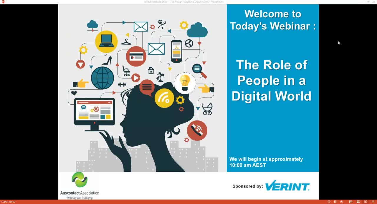 The Role of People in the Digital World Webinar (AU)