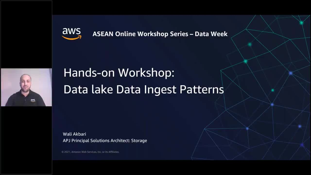 Data ingest and data integration patterns into a data lake