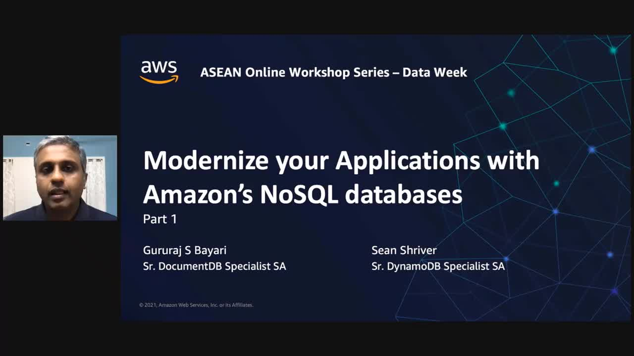 Modernize your app data layer with Amazon's NoSQL databases