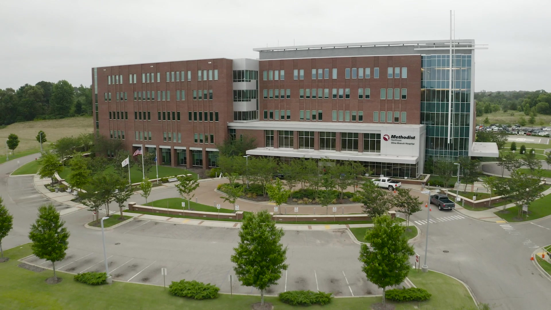 Hospital and Medical Facility Landscaping - Michael Hatcher and Associates
