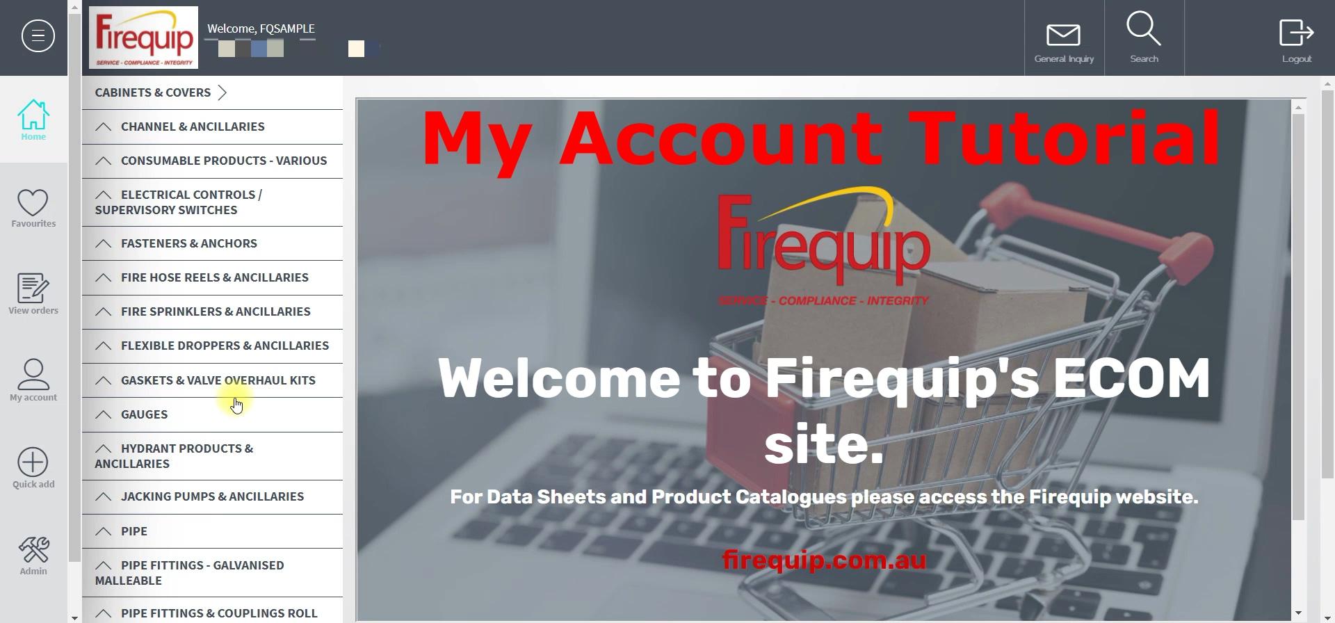 ECOM - My Account Tutorial