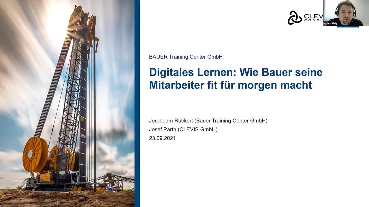 Digitales Lernen: BAUERs neue innovative Lernwelten für Angestellte und Geschäftspartner