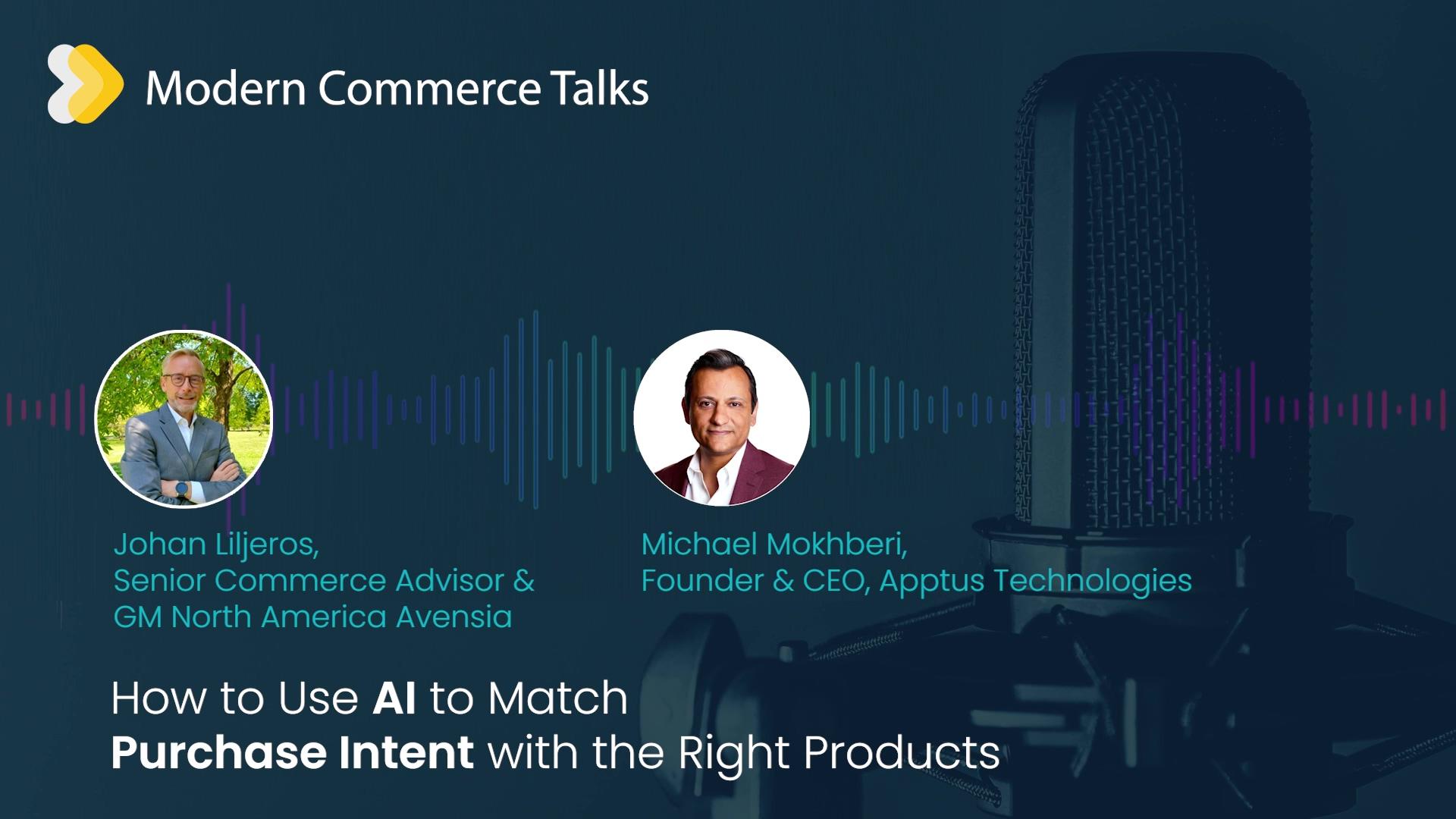 Modern Commerce Talks - Apptus AI User Intent - CTA
