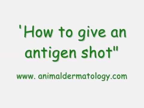 How to give an allergy shot
