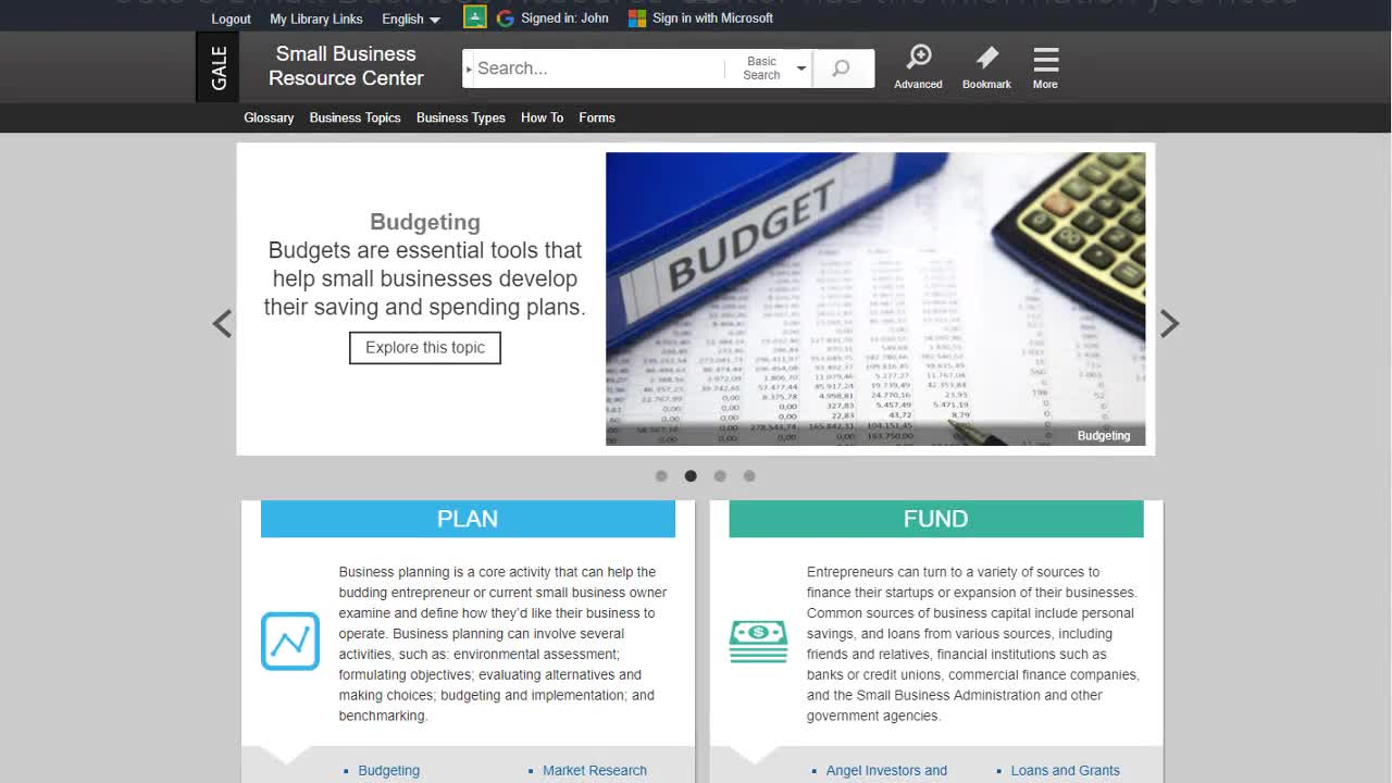Small Business Resource Center - Business Plans Thumbnail
