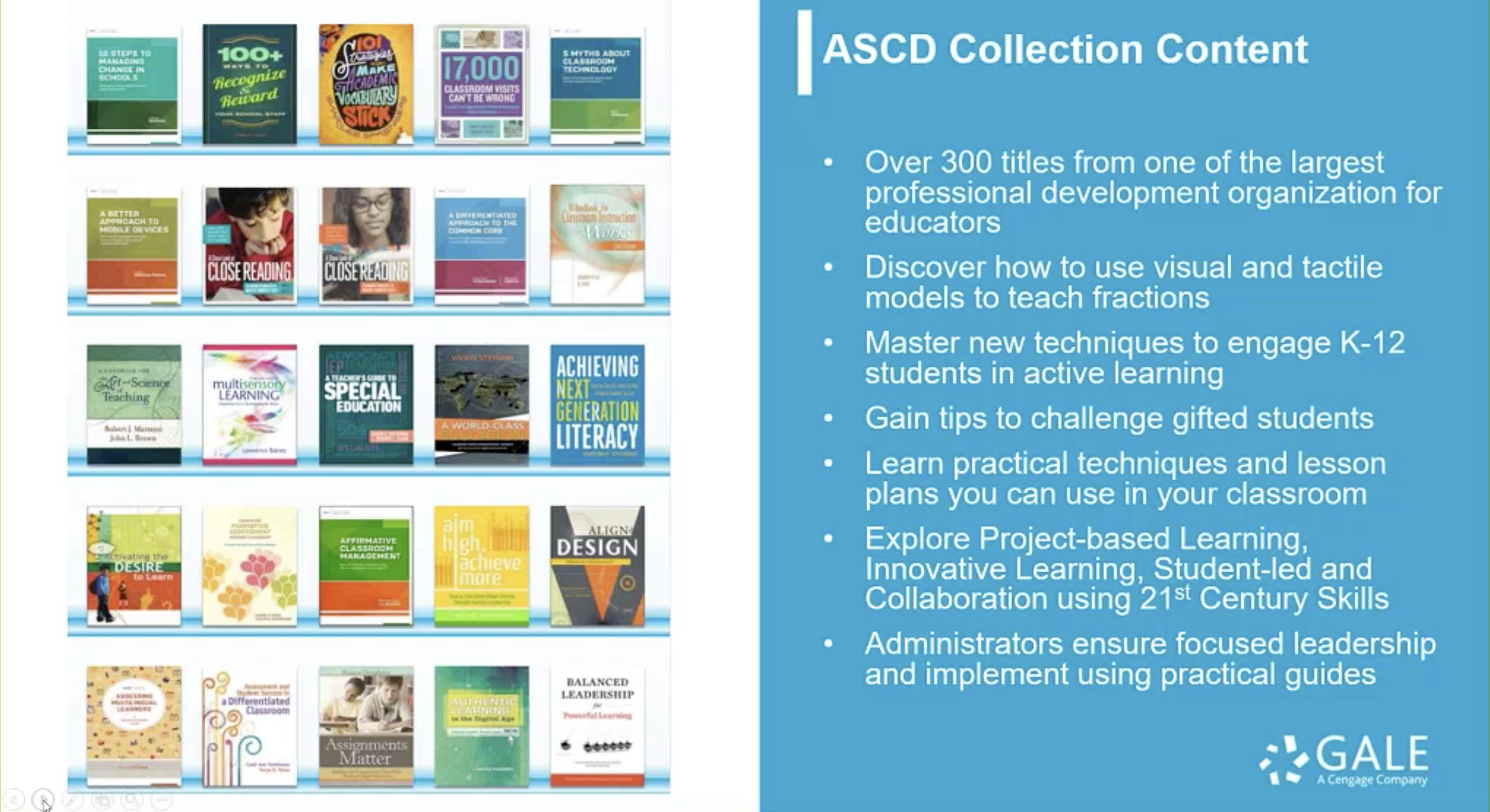 Gale Virtual Reference Library Webinar - ASCD Collection Thumbnail