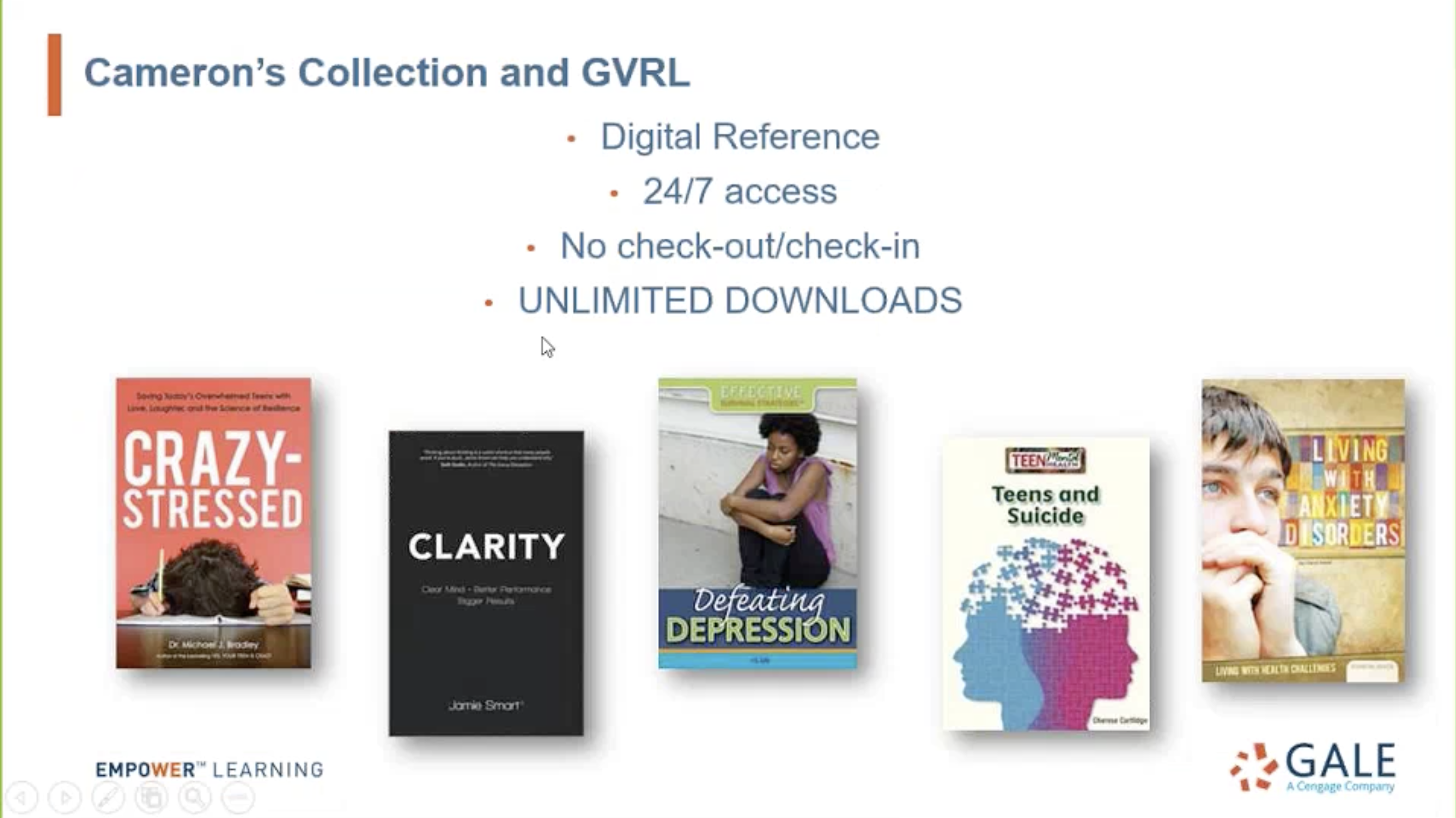 Gale Virtual Reference Library Webinar - Cameron's Collection Thumbnail