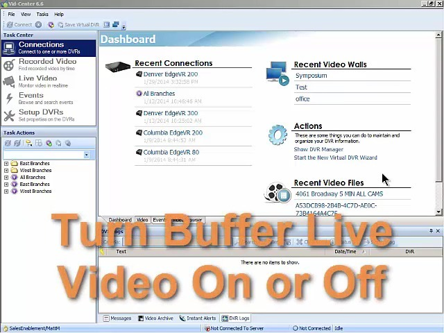 Turn Buffer Live Video On or Off