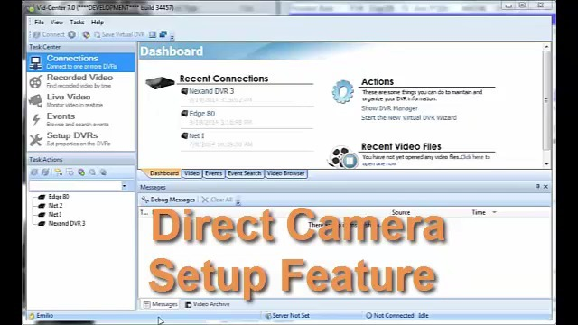 Direct Camera Setup Feature