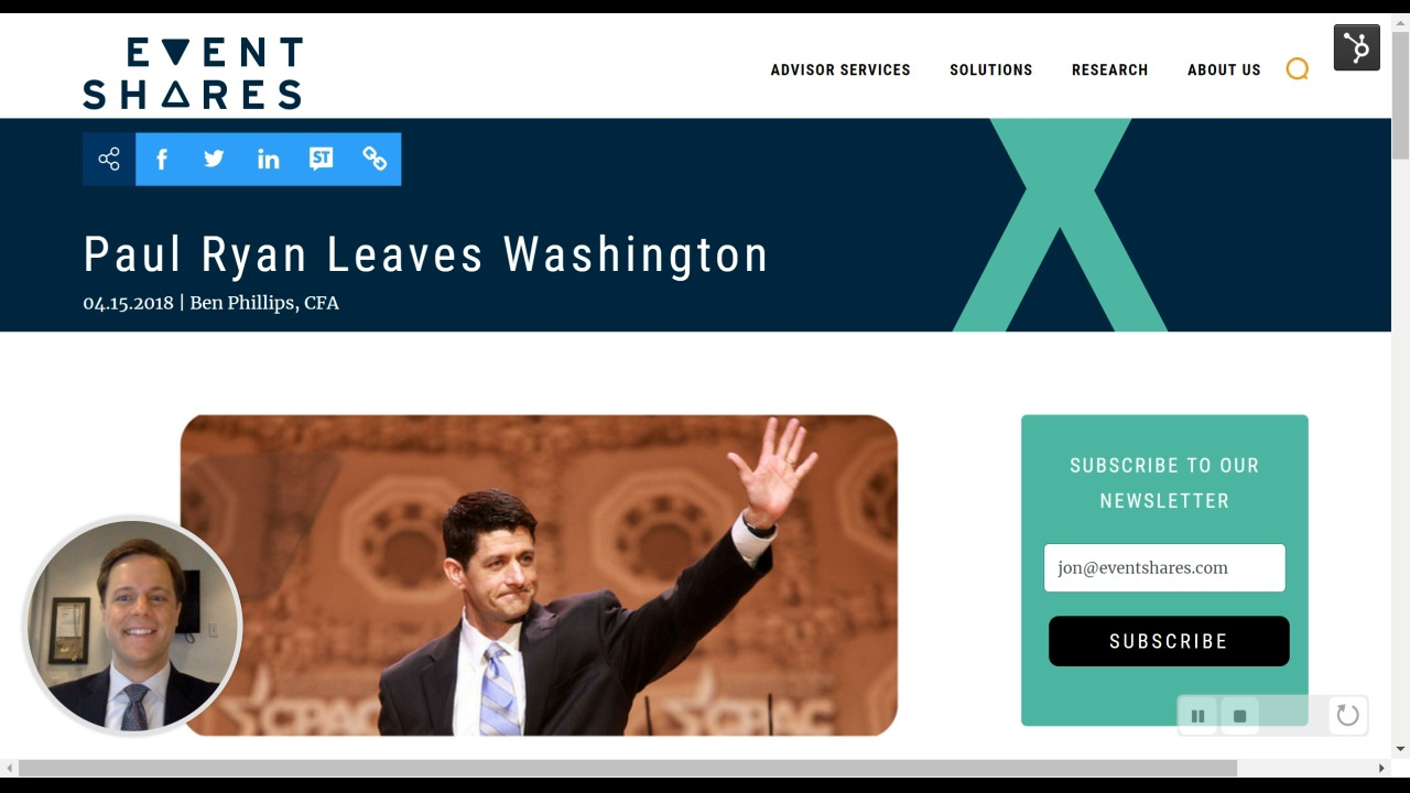 Paul Ryan Leaves Washington