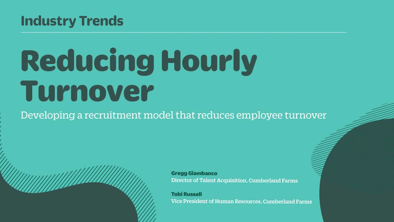 Reducing Hourly Turnover
