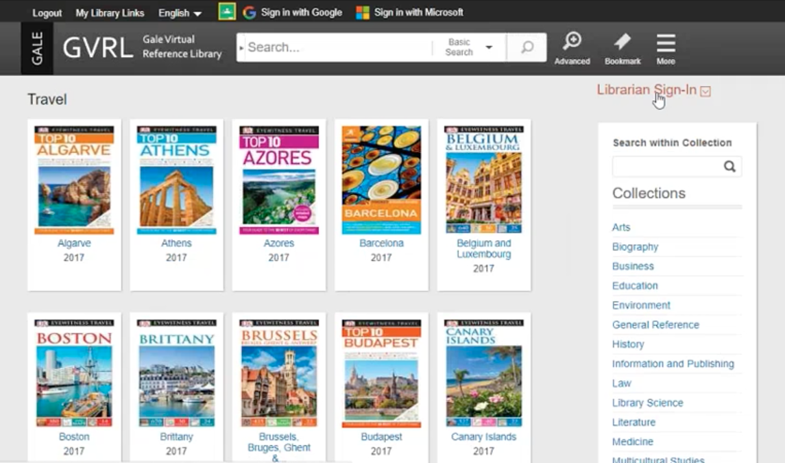 Gale Virtual Reference Library Webinar - Travel Guides Thumbnail