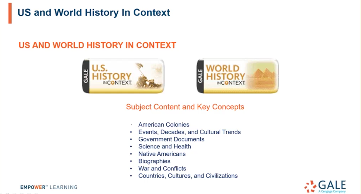 U.S. and World History In Context Webinar Thumbnail