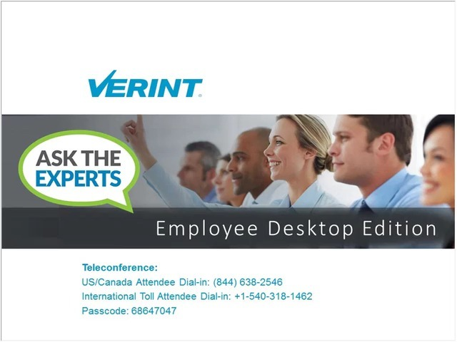 Ask the Experts – Employee Desktop Edition Webinar