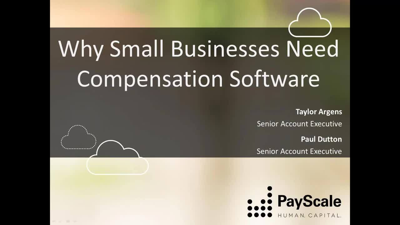 Webinar-Why Small Businesses Need Comp Software