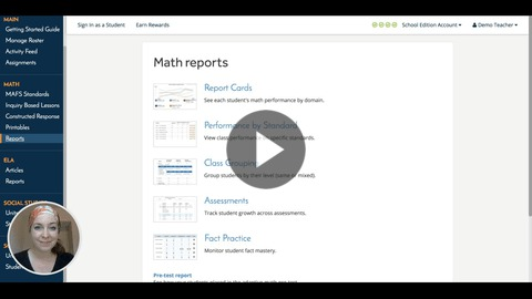 Walkthrough of benchmark assessment reports