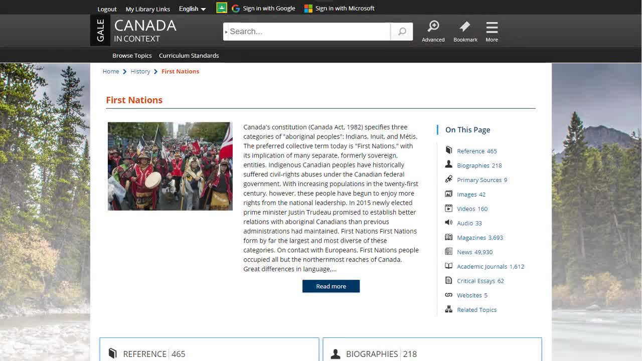 Canada In Context - Topic Pages Thumbnail