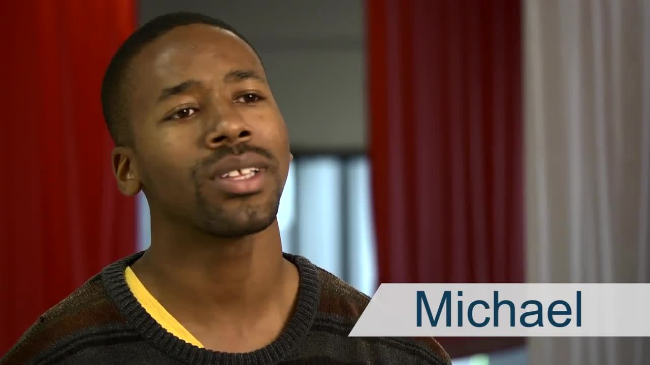 Michael Credits the Program for Helping Him Get Better Grades