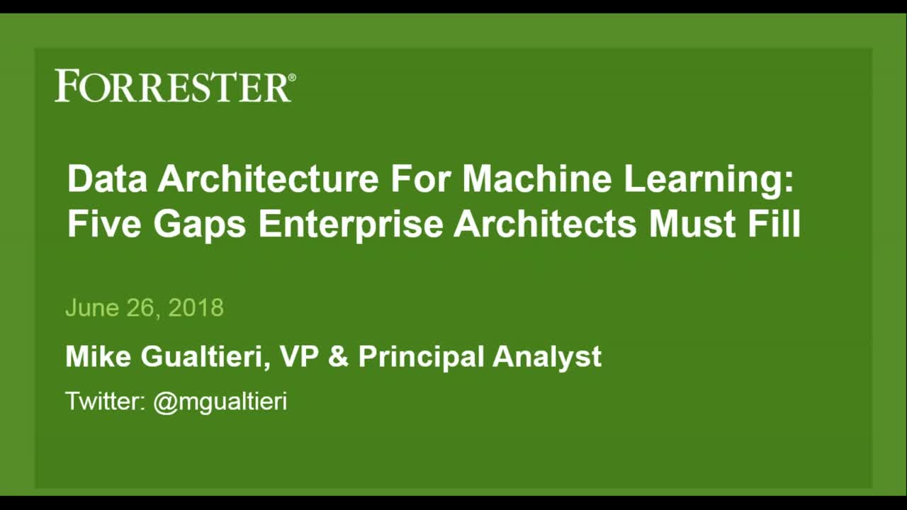 Data Architecture for Machine Learning: Five Gaps Enterprise Architects Must Fill
