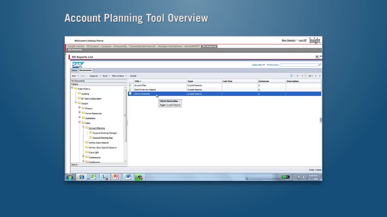 Account Planning Tool Overview