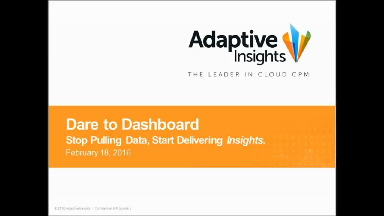 Screenshot for Dare to Dashboard:  Stop pulling data, start delivering insights.