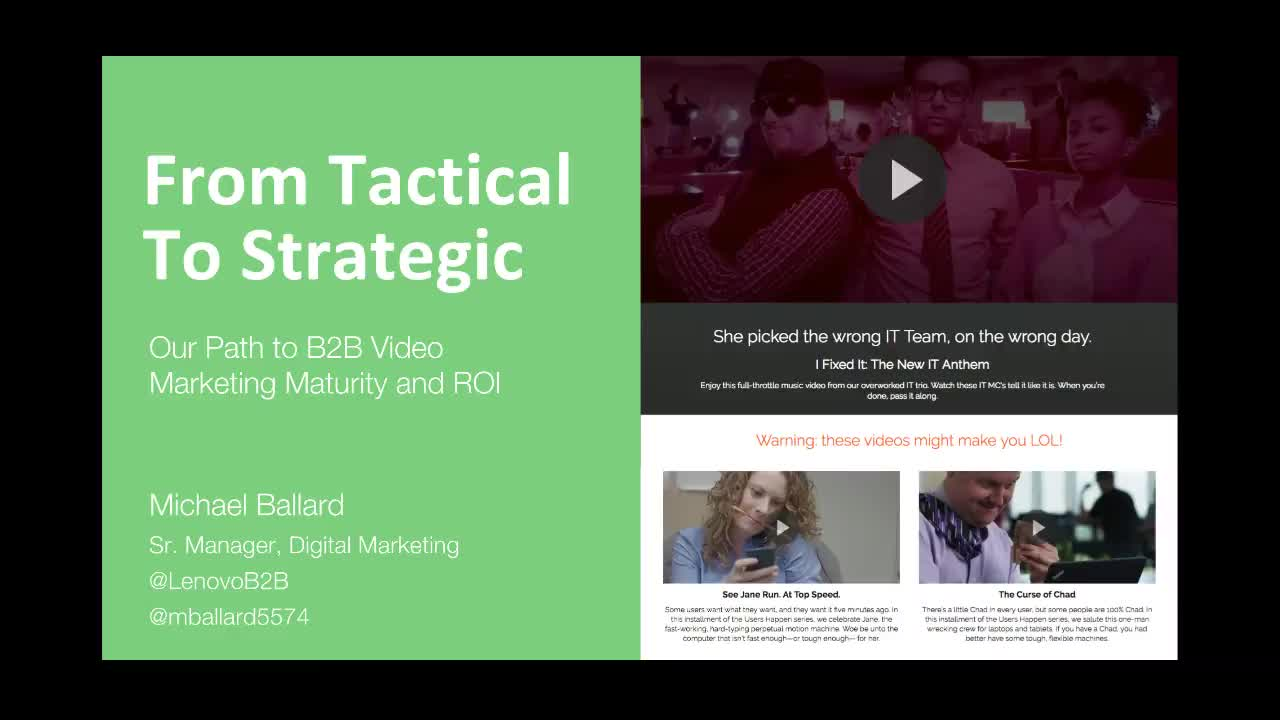 From Tactical to Strategic: Our Path to B2B Video Marketing Maturity and ROI