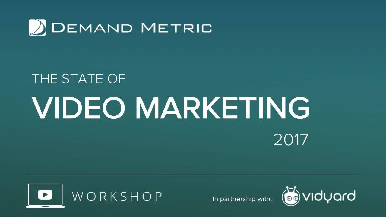 Hot Off the Press! B2B Video Trends, Benchmarks and Success Factors