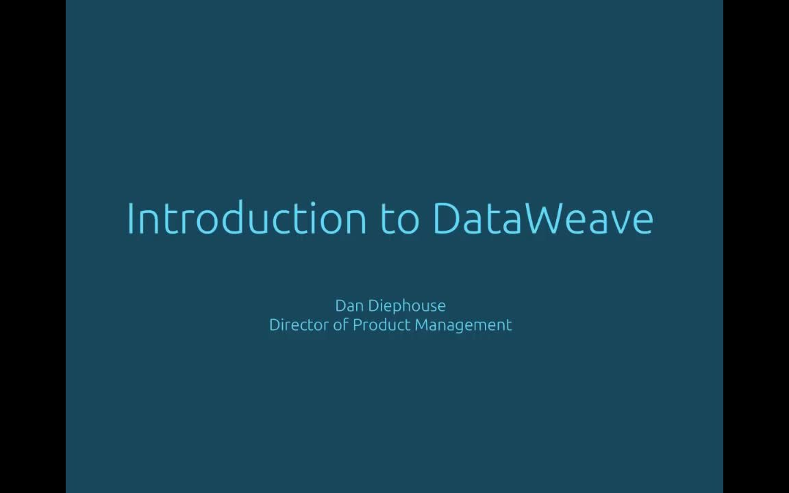 Intro to dataweave