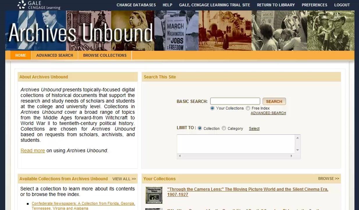 Archives Unbound - Basics Thumbnail