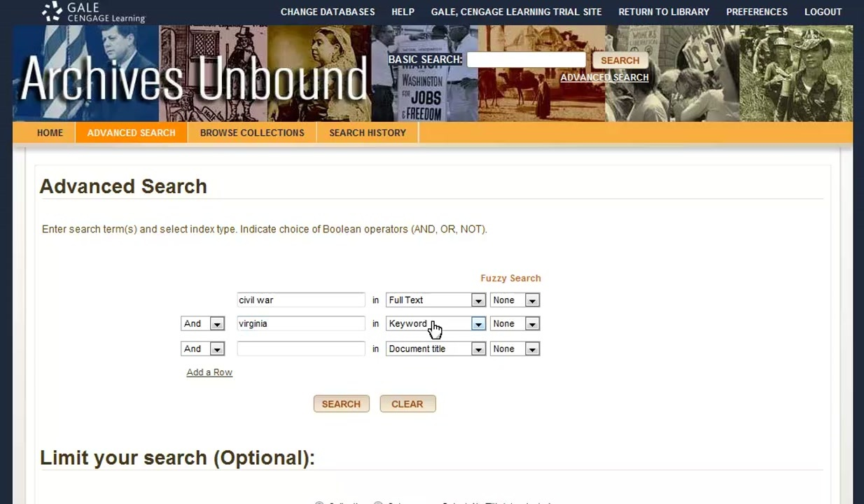 Archives Unbound - Searching Thumbnail