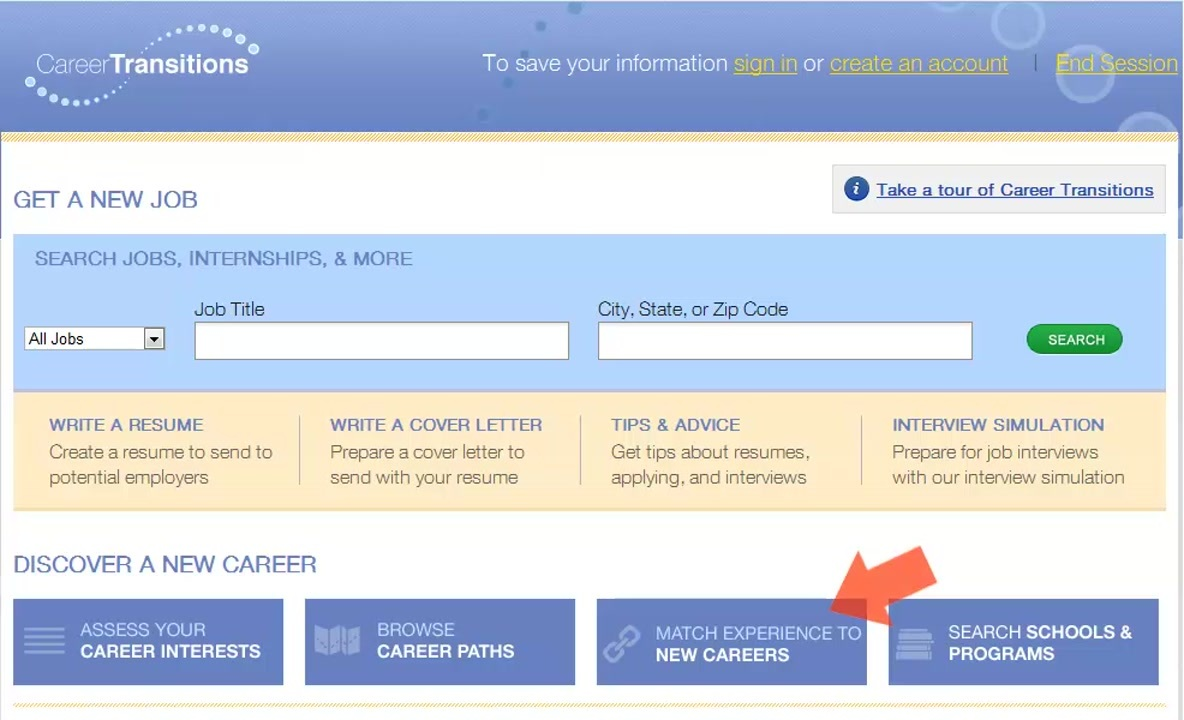 Career Transitions - Browse Career Paths Thumbnail
