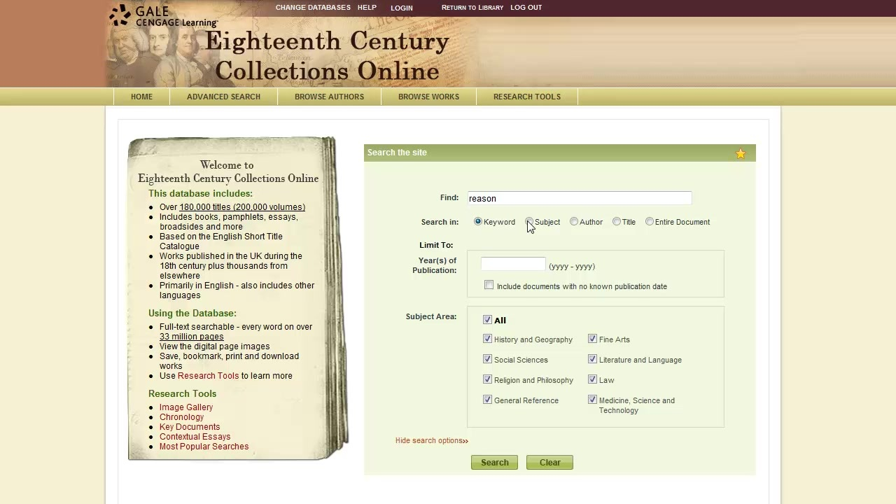 Eighteenth Century Collections Online - Basics Thumbnail