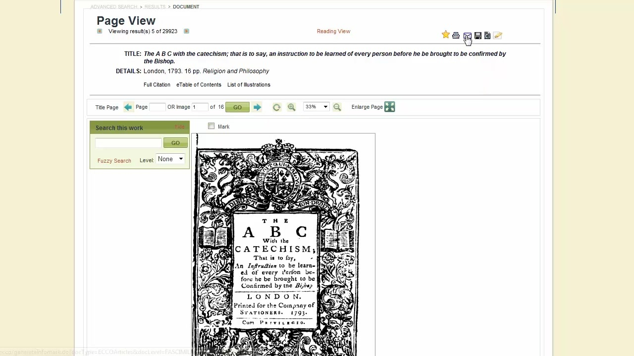 Eighteenth Century Collections Online - Viewing Documents Thumbnail
