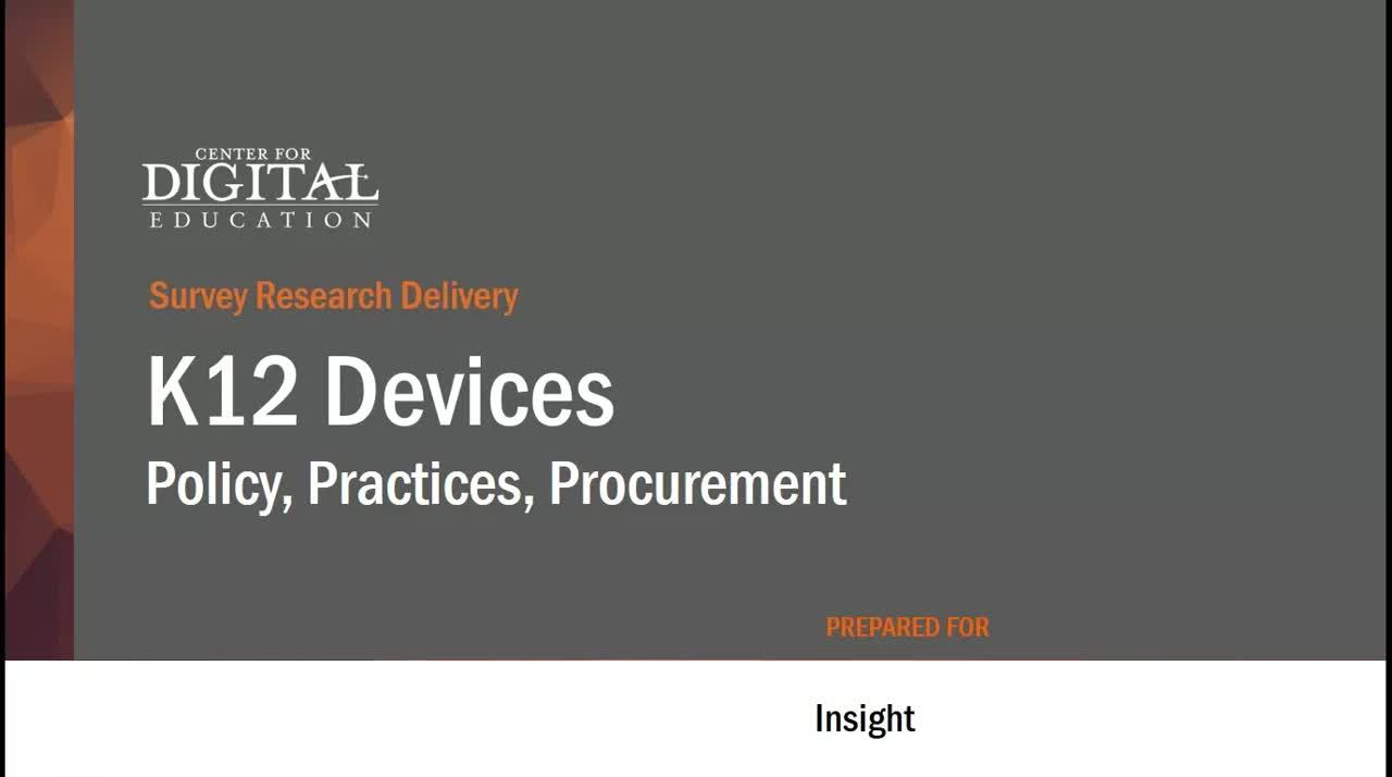 K12 Devices Policy Practices Procurement