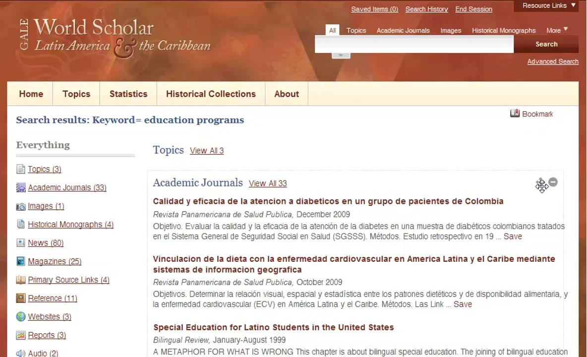 World Scholar - Search Results Thumbnail