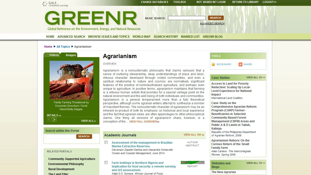 GREENR -Topic Pages