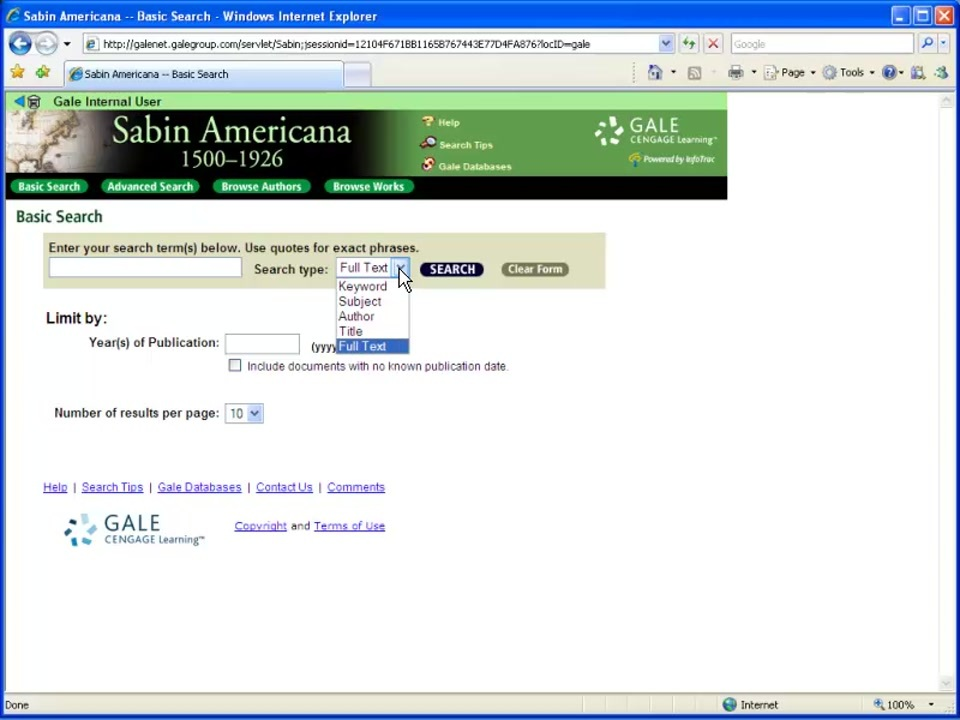 Sabin Americana - Basic Search Thumbnail