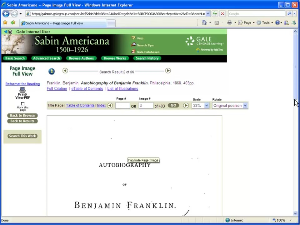 Sabin Americana - Search Results Thumbnail