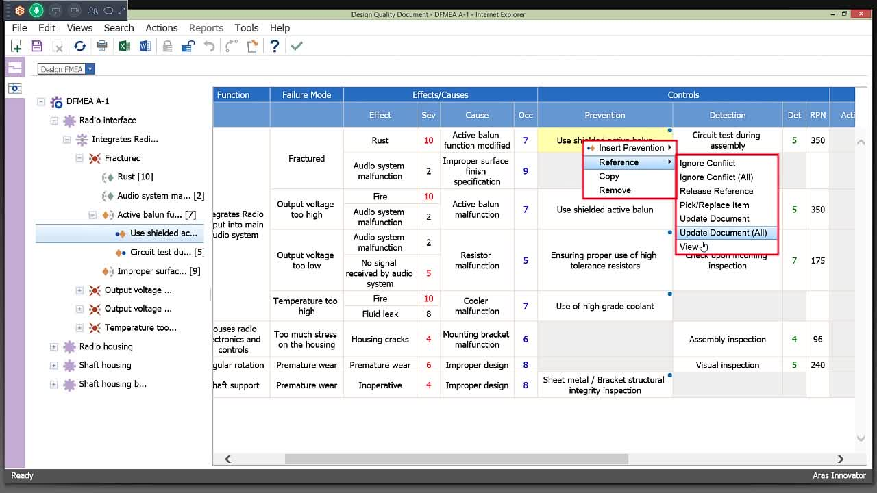 A Brief Look at: Aras Quality Management System