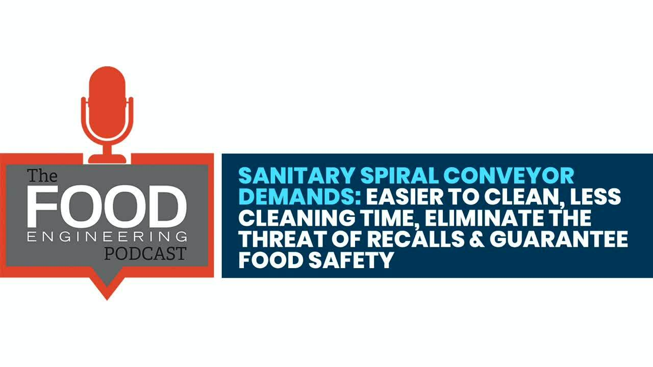Sanitary Spiral Conveyor  Demands- Easier to Clean, Less  Cleaning Time, Eliminate the  Threat of Re