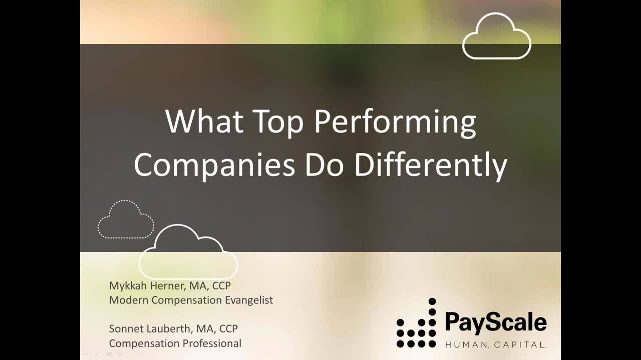 Webinar-What Top Performing Companies Do Differently