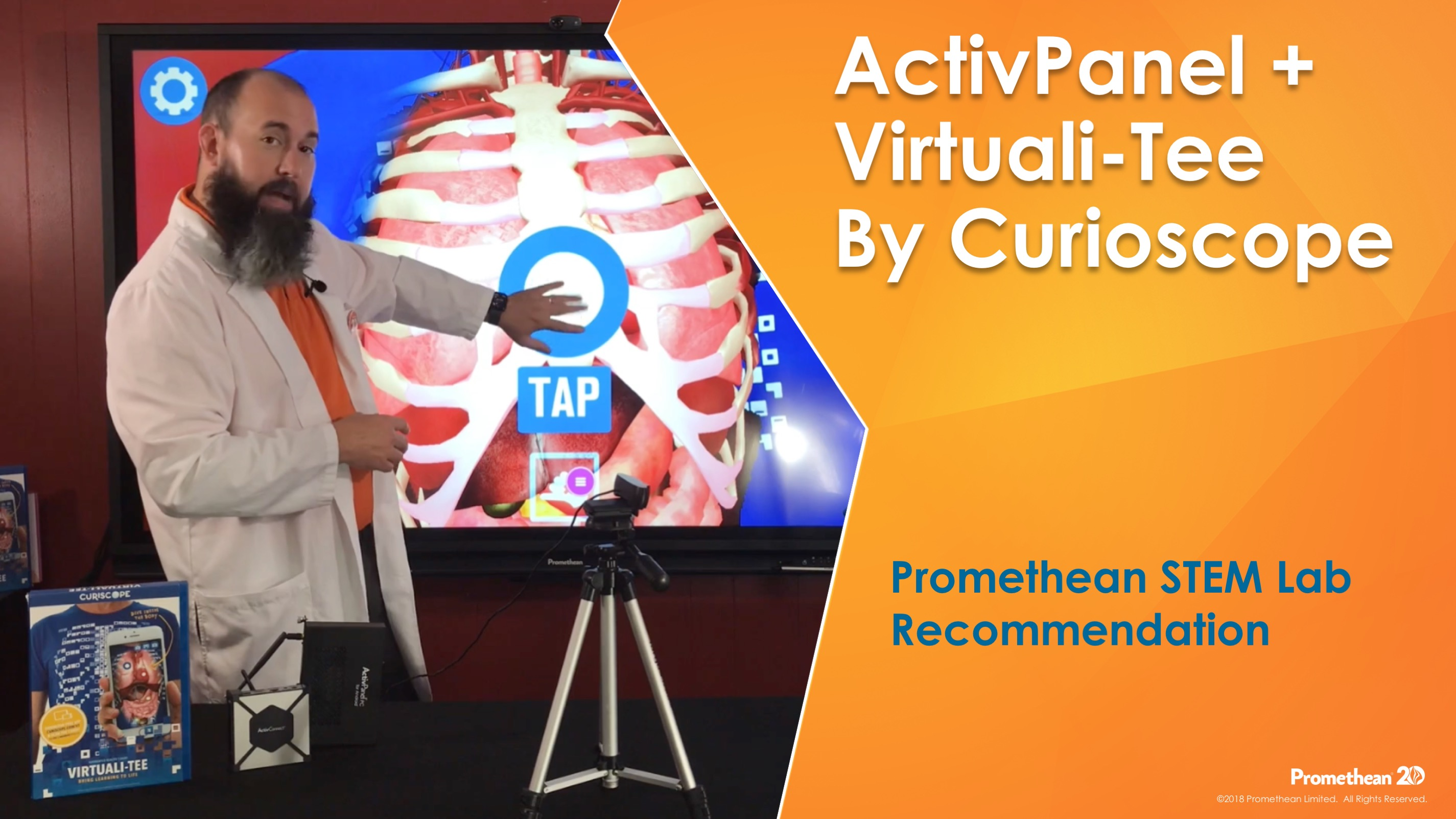 Virtuali-Tee by Curioscope with ActivPanel - Promethean STEM Feature (copy)