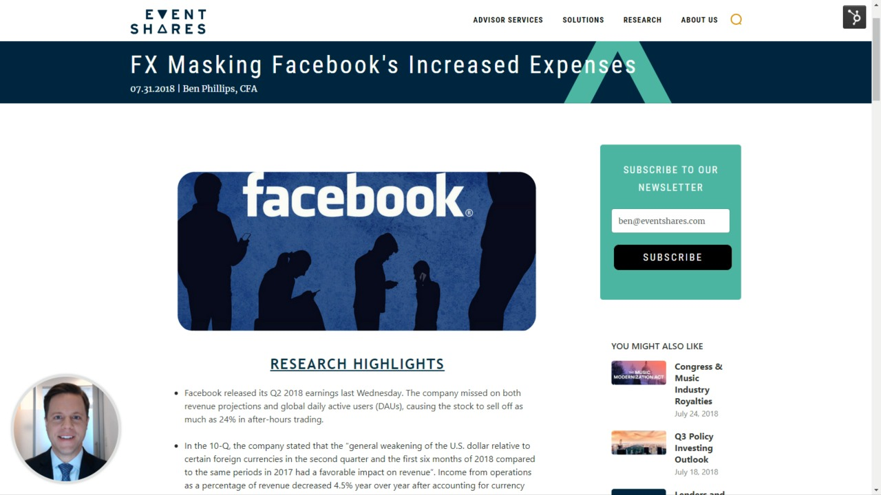 FX Masking Facebook's Increased Expenses