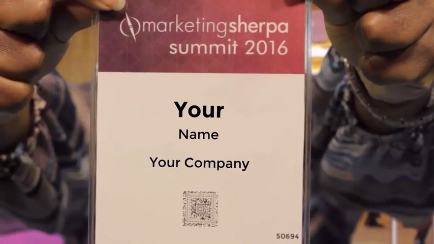 Marketing Sherpa Event Welcome