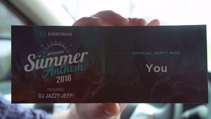 Summer Anthem Party Invitation