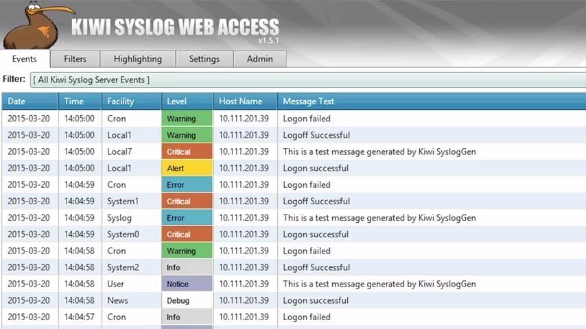 Kiwi Syslog Server Guided Tour Video Solarwinds
