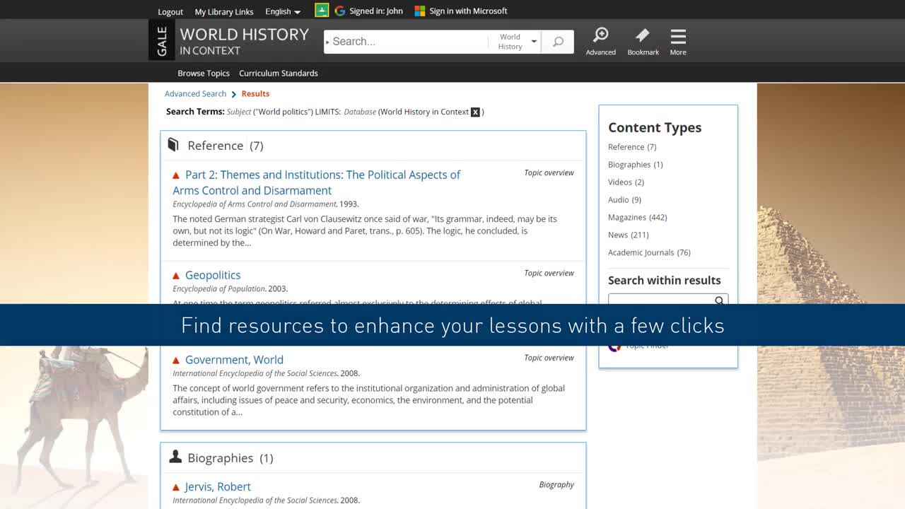 World History In Context - Classroom Integration Thumbnail