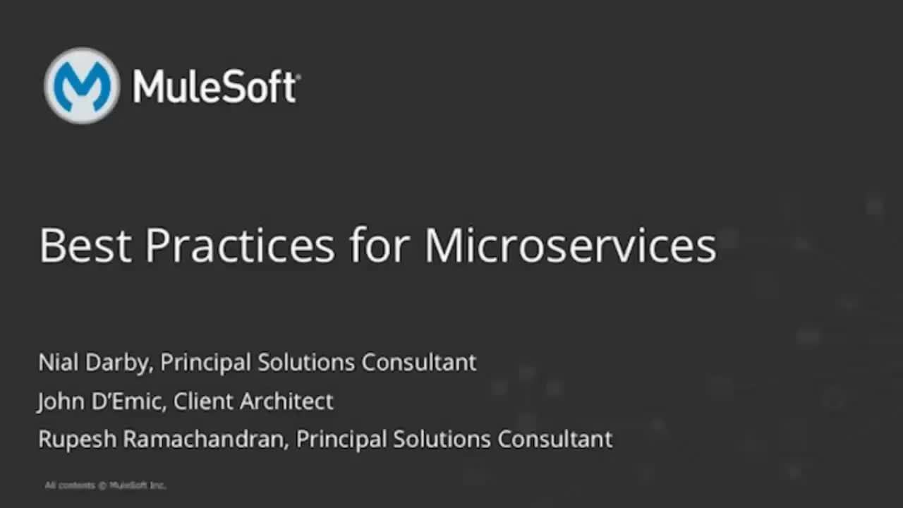 Webinar: Microservices Best Practices